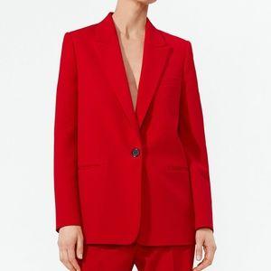 NWOT Zara Red Buttoned Blazer